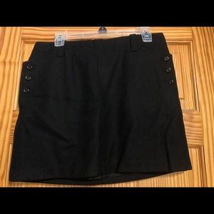 J Crew Black Wool Mini Skirt Size 6